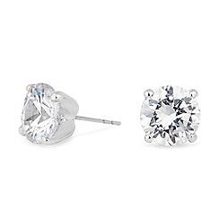 Jon Richard - Silver cubic zirconia stud earring