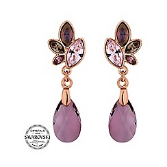 Jon Richard - Rose gold drop earring MADE WITH SWAROVSKI CRYSTALS
