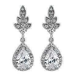 Jon Richard - Leaf and pear drop earrings