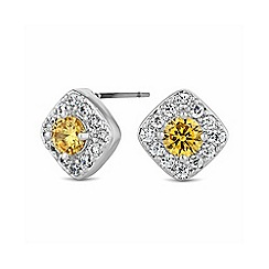Jon Richard - Yellow pave stud earring