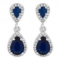 Jon Richard - Blue double peardrop earring