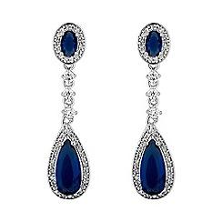 Jon Richard - Blue double drop earring