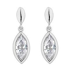 Jon Richard - Silver crystal navette earring