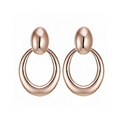 Jon Richard - Rose gold circle drop earring