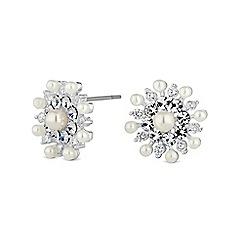 Jon Richard - Silver crystal burst earring