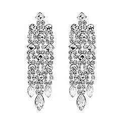 Jon Richard - Silver diamante statement drop earring