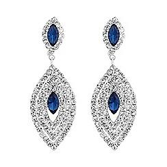 Jon Richard - Blue crystal multi navette drop earring