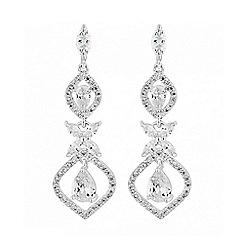 Alan Hannah Devoted - Silver floral drop earring