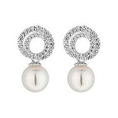 Jon Richard - Swirl drop pearl earring
