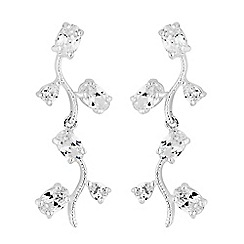 Alan Hannah Devoted - Alan Hannah Devoted Athena silver cubic zirconia drop earrings