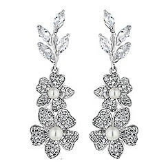 Alan Hannah Devoted - Freya flower and pearl earrings