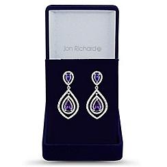 Jon Richard - Purple double drop earring