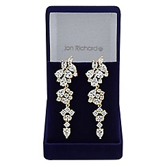 Jon Richard - Gold cubic zirconia statement earring