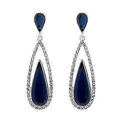 Jon Richard - Blue crystal elongated peardrop earring