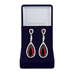 Jon Richard - Red peardrop drop earring