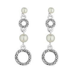 Alan Hannah Devoted - Circle and pearl drop earring