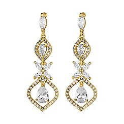 Alan Hannah Devoted - Gold floral drop earring