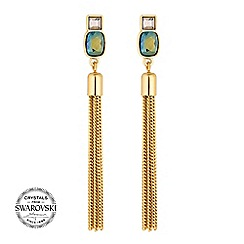 Jon Richard - Green tassel earring MADE WITH SWAROVSKI CRYSTALS