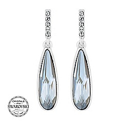 Jon Richard - Blue peardrop earring MADE WITH SWAROVSKI CRYSTALS. Matching items available.