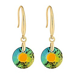 Jon Richard - Green circle earring MADE WITH SWAROVSKI CRYSTALS