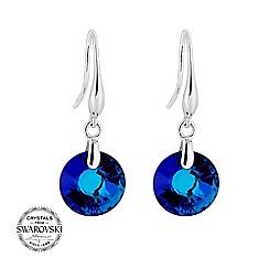 Jon Richard - Bermuda blue round earring MADE WITH SWAROVSKI CRYSTALS