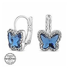 Jon Richard - Pave mini butterfly earring MADE WITH SWAROVSKI CRYSTALS
