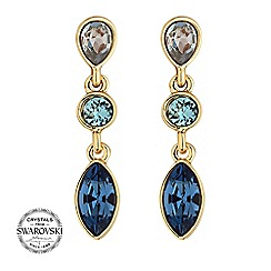 Jon Richard - Tonal blue earring MADE WITH SWAROVSKI CRYSTALS