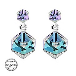 Jon Richard - Crystal cube drop earring MADE WITH SWAROVSKI CRYSTALS