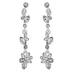 Jon Richard - Jon Richard Sophia botanical drop earrings MADE WITH SWAROVSKI CRYSTALS