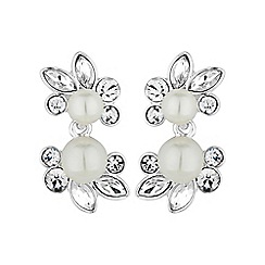 Alan Hannah Devoted - Silver botanical pearl earring