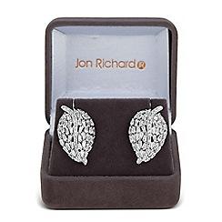 Jon Richard - Curved leaf stud earring