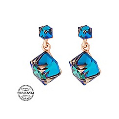 Jon Richard - Bermuda blue cube earring MADE WITH SWAROVSKI CRYSTALS