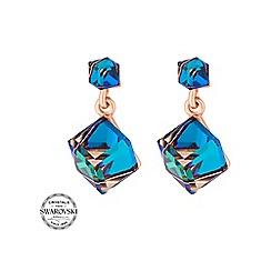 Jon Richard - Bermuda blue cube earring MADE WITH SWAROVSKI CRYSTALS