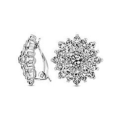 Jon Richard - Floral burst clip on earring