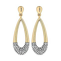 Jon Richard - Crystal dipped teardrop earring