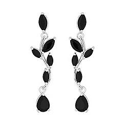 Jon Richard - Jet crystal floral earring