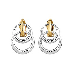 Jon Richard - Double hoop clip on earring