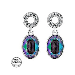 Jon Richard - Oval crystal and pave circle earring MADE WITH SWAROVSKI CRYSTALS