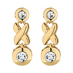 Jon Richard - Gold crystal cross earring