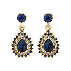 Alan Hannah Devoted - Crystal peardrop earring