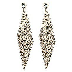 Jon Richard - Gold diamante chandelier earrings