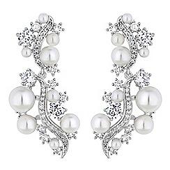 Alan Hannah Devoted - Designer pearl cluster drop earrings