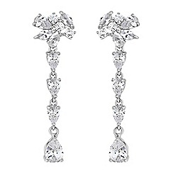 Alan Hannah Devoted - Designer cubic zirconia droplet earrings