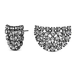 Jon Richard - Crystal cluster half circle earrings