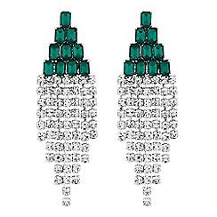 Jon Richard - Green crystal statement drop earrings