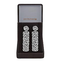 Jon Richard - Silver cubic zirconia shard drop earrings