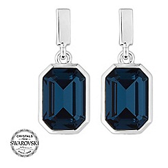 Jon Richard - Blue crystal baguette drop earrings MADE WITH SWAROVSKI CRYSTALS