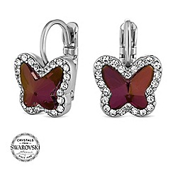 Jon Richard - Lilac butterfly earrings MADE WITH SWAROVSKI CRYSTALS