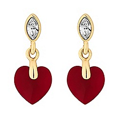 Jon Richard - Heart drop earrings created with swarovski crystals
