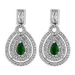 Jon Richard - Pave peardrop earrings